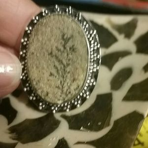 Jewelry - Psilomelane 925 sterl. silver ring